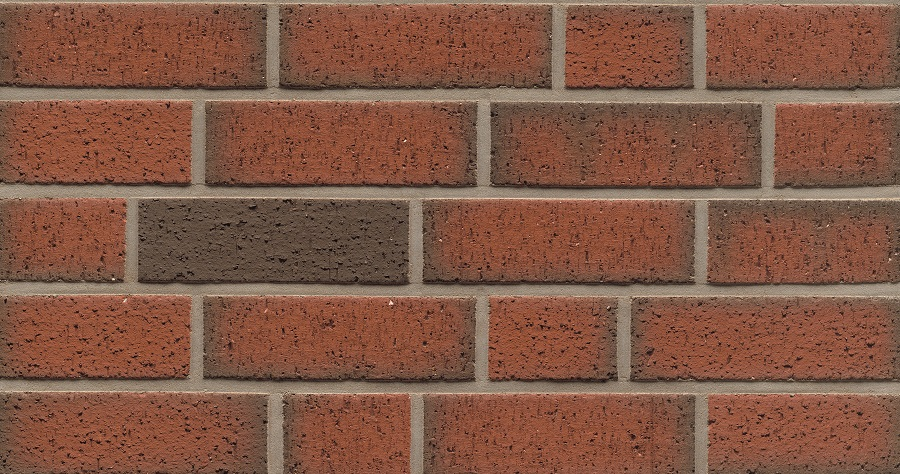 313 Red Flashed Wirecut Thin Brick