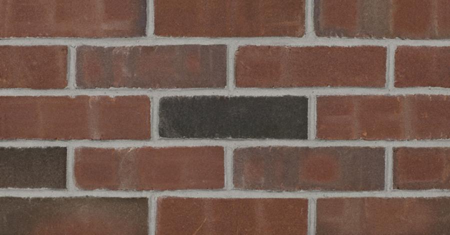 "Rustic Burgundy Thin Brick 1/2"""