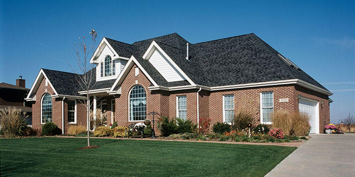 Brick Home with Cabernet