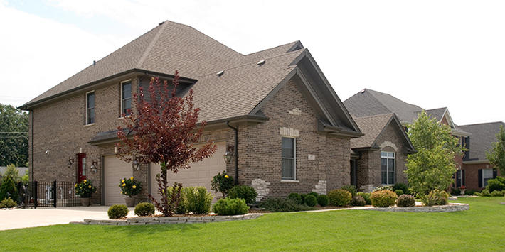Brick Home with Celtic Grey
