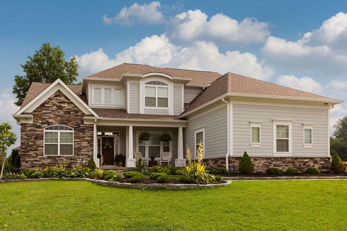 Stone Home with Chisel Gray Stackstone