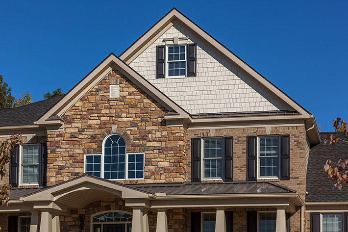 Brick & Stone Home with Lockport & Allegheny Cut Cobble