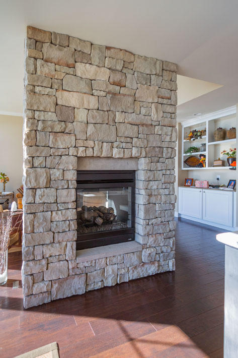 Stone Home & Fireplace with Southern Malt Cut Cobble