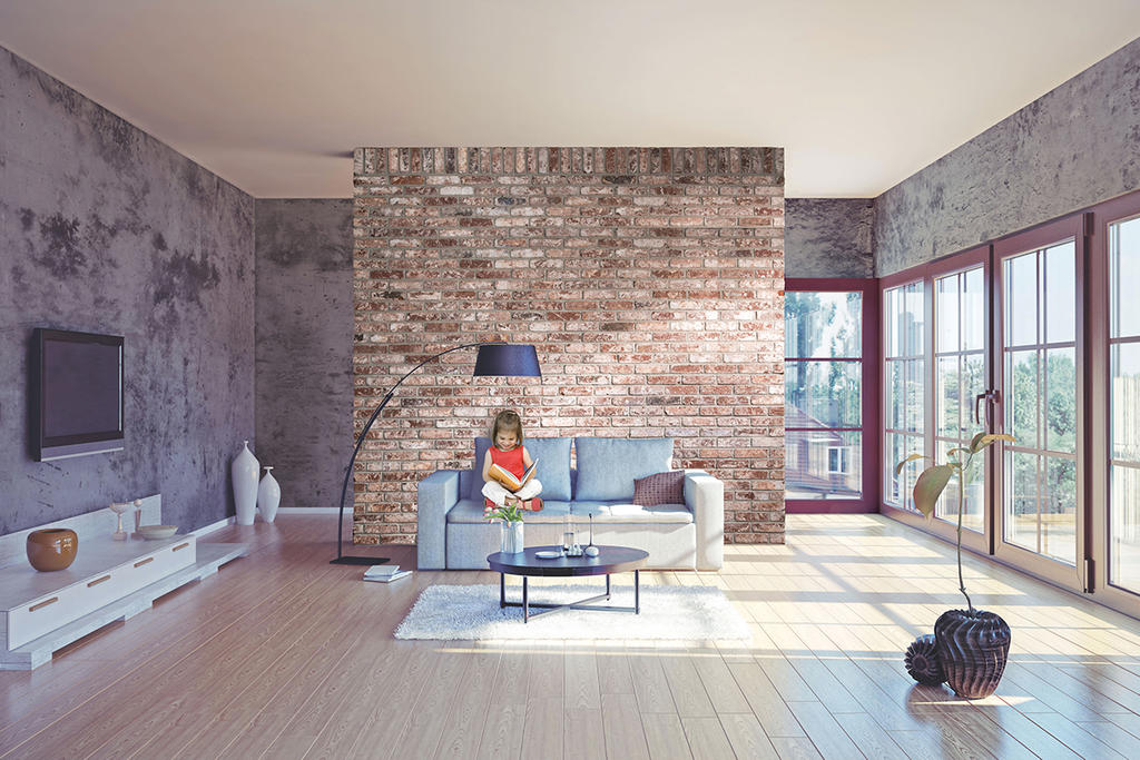 Accent Wall with Olde City Thin Brick 3/4""