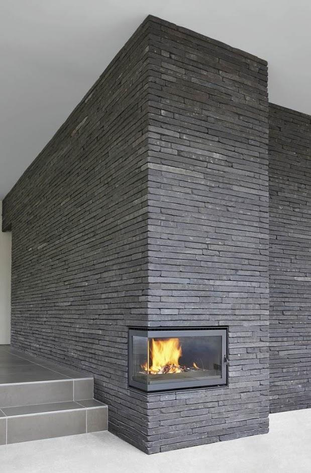 Fireplace with Piave Textured