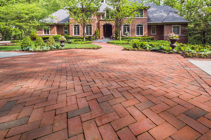Brick Home with 53-DD Paver