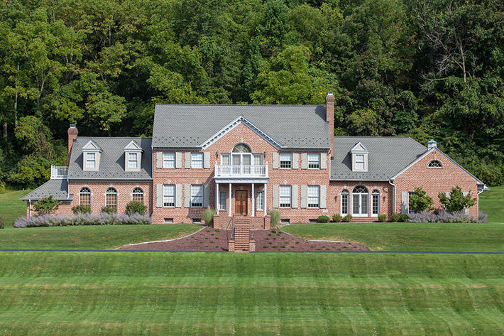 Brick Home with Monticello Handmade
