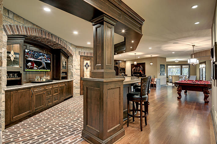 Brick Bar & Fireplace