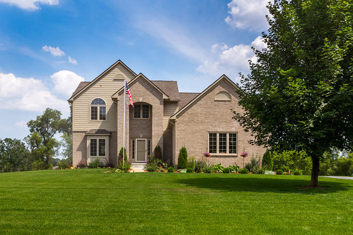 Brick Home with Anchor Bay