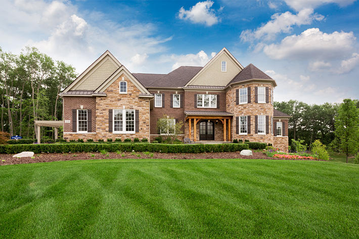 Brick & Stone Home with Battle Creek & Sonoma Glen Ridge