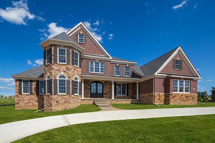 Brick & Stone Home with Merlot Full-Range & Sonoma Glen Ridge