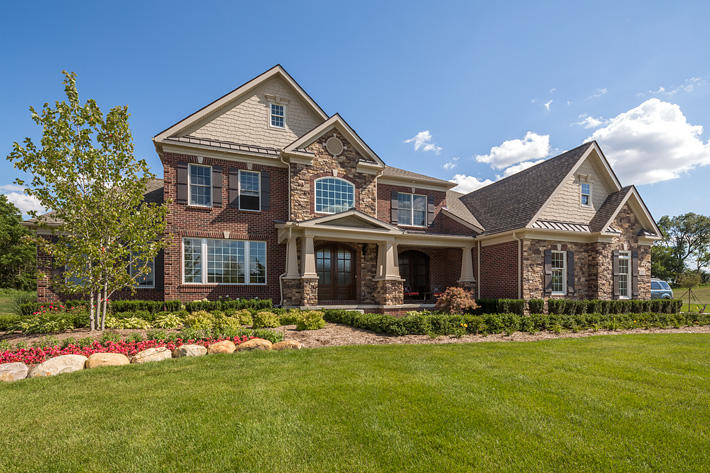 Brick & Stone Home with Buckingham Glen Ridge & Ellsworth
