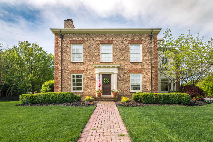 Brick Home with Cherry Lane Handmade