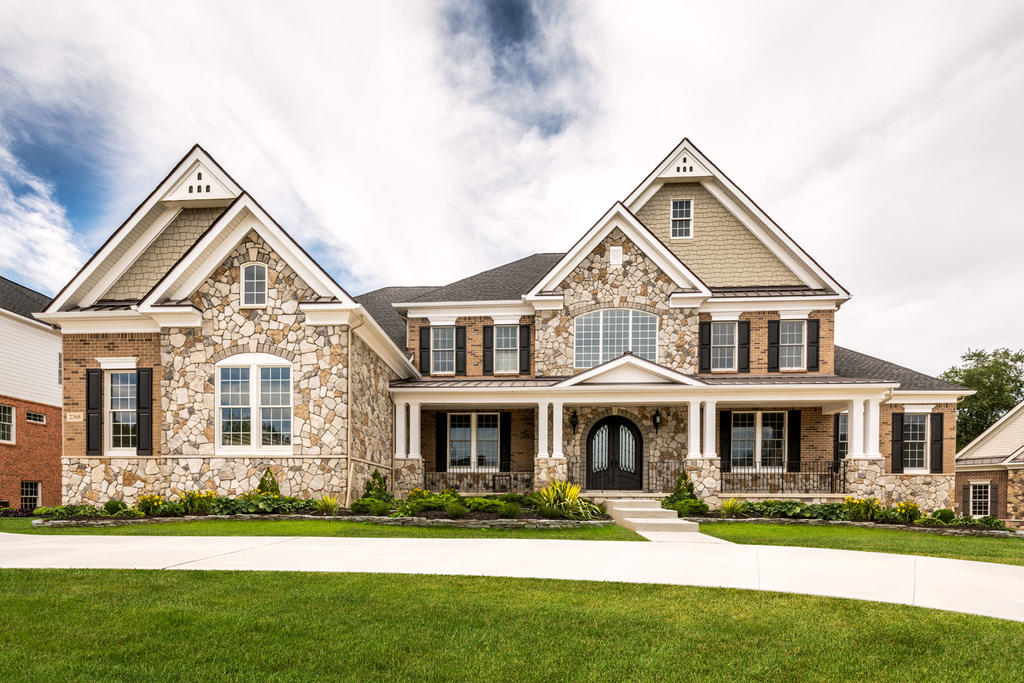Brick & Stone Home with Waterford & San Moritz Fieldstone