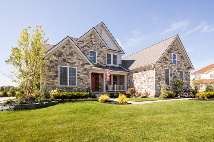 Brick & Stone Home with Harwood & Kentucky Gray Limestone