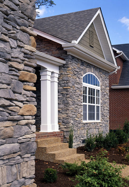 Stone Home with Blue Ridge Ledgestone