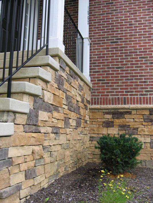 Stone Home with Wheat Glen Ridge