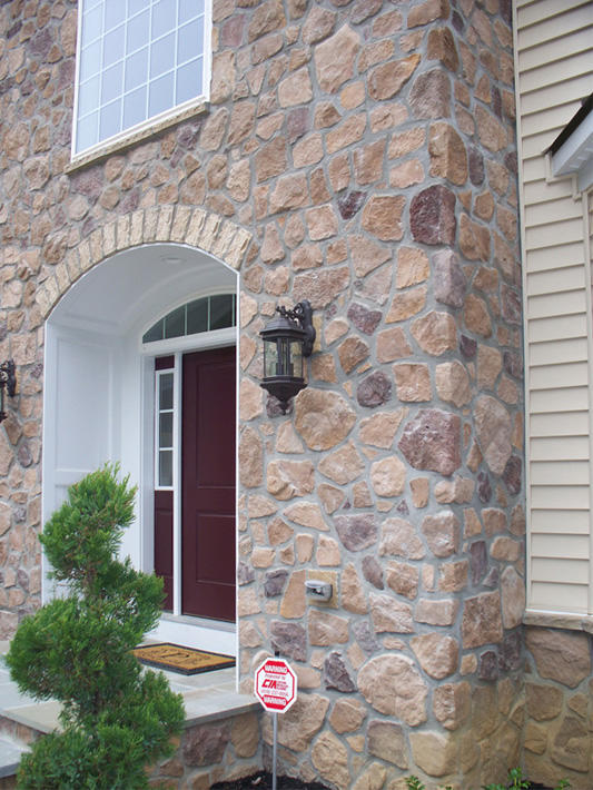 Stone Home with Sonoma Fieldstone