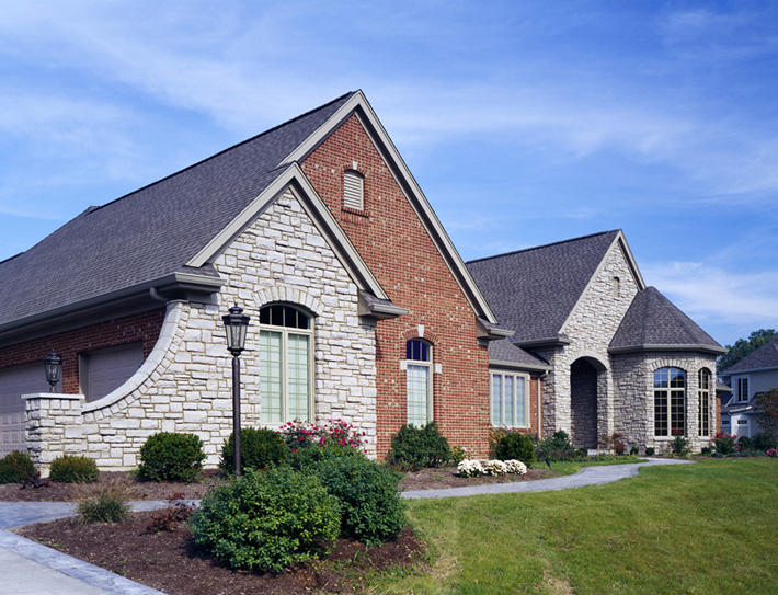 Stone Home with Southern Malt Cut Cobble